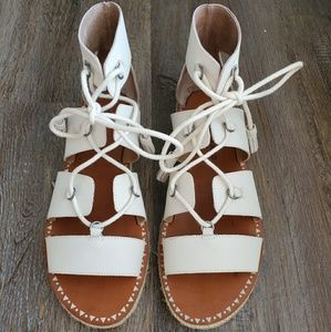 Lucky Brand White Leather Sandals